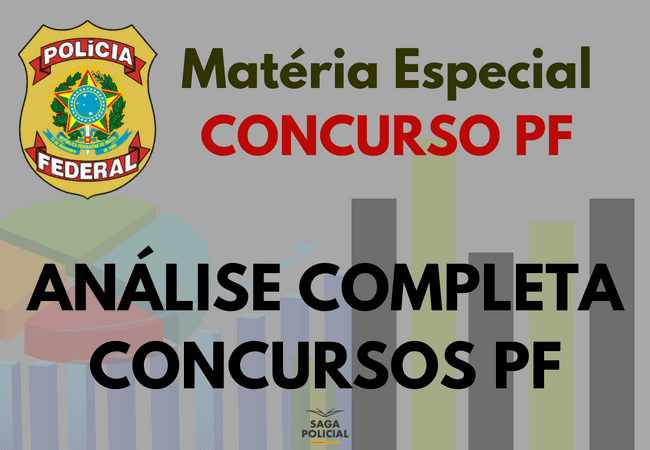 Análise completa concursos anteriores da PF