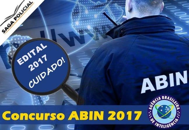 Tudo sobre o concurso ABIN 2017 saga