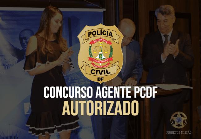 CONCURSO AGENTE PCDF AUTORIZADO