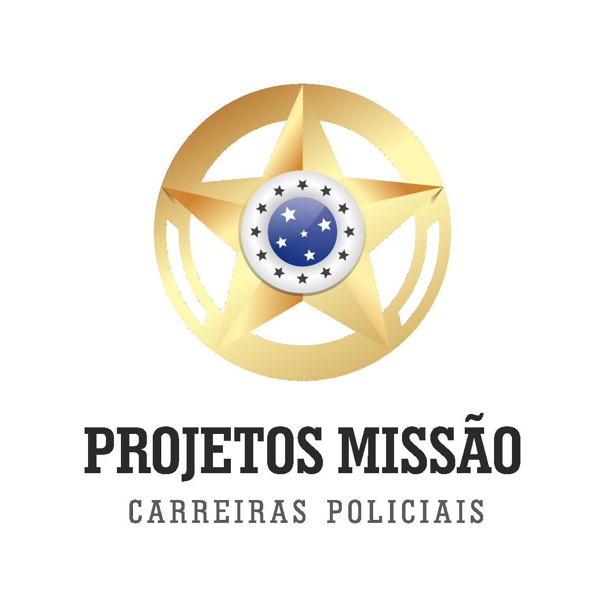 Logotipo Vertical - Projetos Missão - Fundo Transparente - Estrela transparente