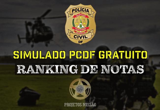 Simulado PCDF gratuito com ranking
